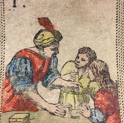 c1820 The Magician Antique Playing Tarot Cards Arcana Single Fortuna +COA