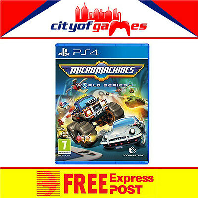 Micro Machines World Series Game PS4 New & Sealed In Stock