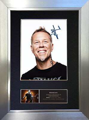 JAMES HETFIELD Signed Autograph Mounted Photo Repro A4 Print 473