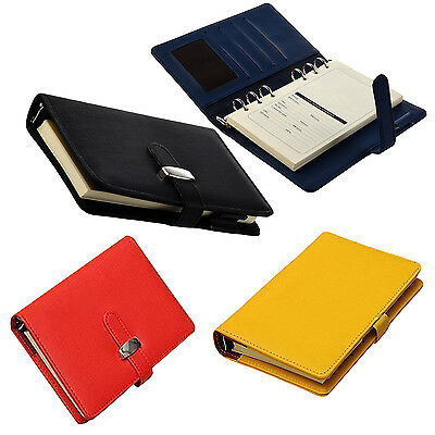 Pocket Organiser Planner Leather Filofax Diary Notebook F7D8