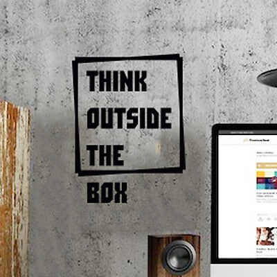 Office Space Wall Art Sticker Think Outside The Box Study