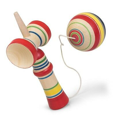 Wooden Kendama - Classic Fun Traditional Childrens Colourful Toy