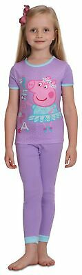 3a1a9345 Peppa Pig Girls' 4 Piece Cotton Pajama Set,Toddler Little Kids Size 2T,