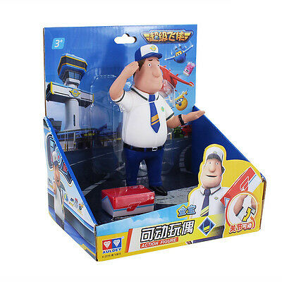 "Super Wings JIMBO WITH BOX! 15 cm. movable figure Jimbo 5,5"" superwings"