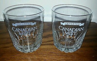Canadian Mist Rocks or Low Ball Glass ~ 10 oz ~ Set of 2