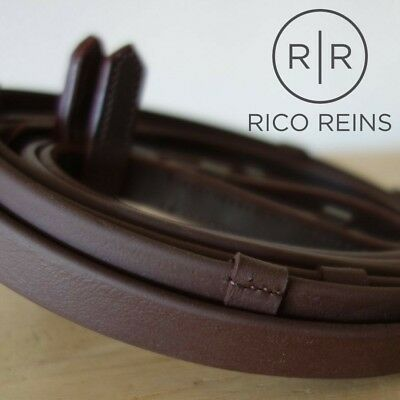 Biothane Slimline Smooth Eventa EXTRA Hand Grip Reins Various Sizes Black Brown