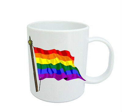 Gay Pride Rainbow Flag  Coffee Mug Free Personalisation Lgbt