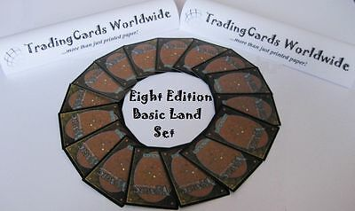 Eighth 8th Edition Complete Basic Land Set // 20|20 // NM-EX // engl.