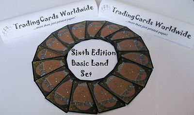 Sixth 6th Edition Complete Basic Land Set // 20|20 // NM-EX // engl.