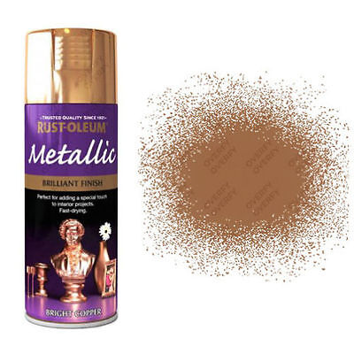 x1 Rust-Oleum Multi-Purpose Premium Spray Paint 400ml Metallic Bright Copper
