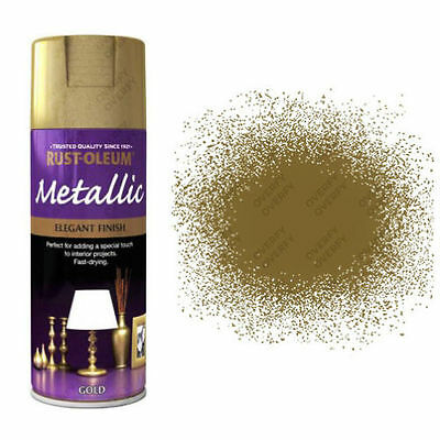 x1 Rust-Oleum Multi-Purpose Premium Spray Paint Indoor Outdoor Metallic Gold