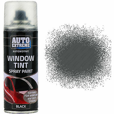 2 x Auto Extreme Car Lights Glass Body Spray Paint Tint Black Smoke 200ml