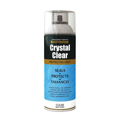 x1 Rust-Oleum Crystal Clear Multi-Purpose Spray Paint Lacquer Top Coat Gloss