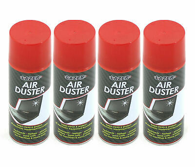 4 x 400ml Compressed Air Duster Spray Can Cleans Protects Laptops Keyboards etc