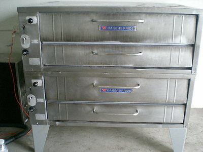 """Bakers Pride 452 Pizza Deck Oven Double Deck 54"""" Nat Gas"""