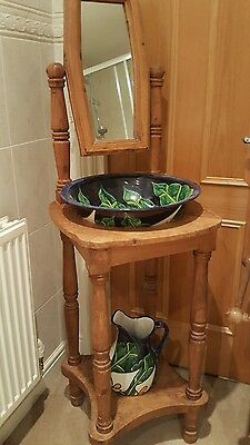 Antique pine Mexican wash stand