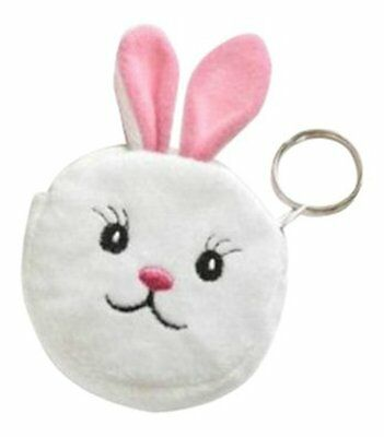Bunny Rabbit Face Purse Keyring Novelty Gifts Easter Fun