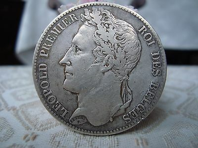 Belgium 5 Francs 1848 Silver Coin King Leopold Antique Coins Currency European