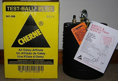 """New CHERNE 8"""" Test Ball SEWER PIPE PLUG**NEW**"""