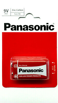 Genuine Panasonic Heavy Duty 9V Block Zinc-Carbon Battery 6F22
