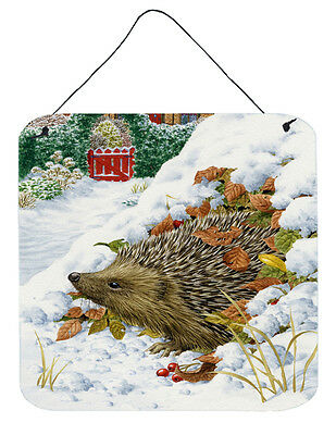 Hedgehog and Red Gate Cottage Wall or Door Hanging Prints