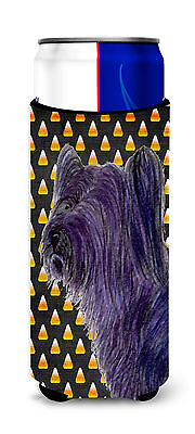 Skye Terrier Candy Corn Halloween Portrait Ultra Beverage Insulators for slim ca