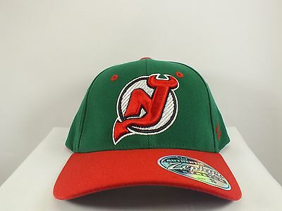 New Jersey Devils Nhl Green/ Red Flexfit Cap Size M/l New By Zephyr G18