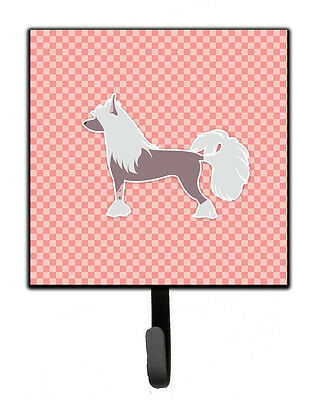Chinese Crested Checkerboard Pink Leash or Key Holder