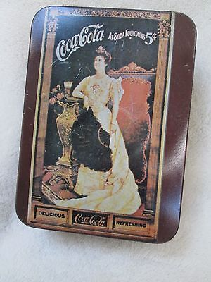 Vintage Coca Cola Tin with notepad