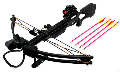 175lbs Hunting Crossbow Package Red Dot Scope Arrows Quiver and Cocking Device