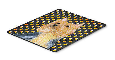 Silky Terrier Candy Corn Halloween Portrait Mouse Pad, Hot Pad or Trivet