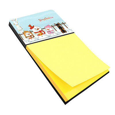 Merry Christmas Carolers Manchester Terrier Sticky Note Holder