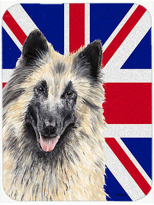 Belgian Tervuren with English Union Jack British Flag Mouse Pad, Hot Pad or Triv