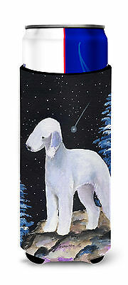 Starry Night Bedlington Terrier Ultra Beverage Insulators for slim cans