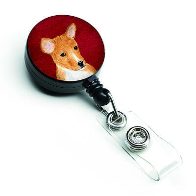 Carolines Treasures  SS6034BR Basenji Retractable Badge Reel or ID Holder with C