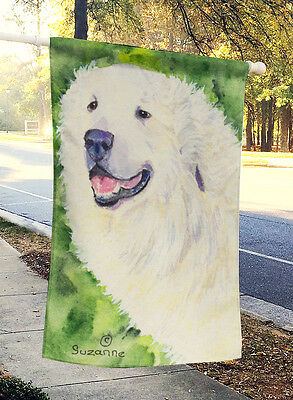 Carolines Treasures  SS8981CHF Great Pyrenees Flag Canvas House Size