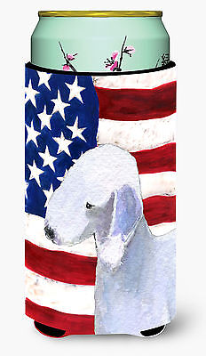 USA American Flag with Bedlington Terrier  Tall Boy Beverage Insulator Beverage