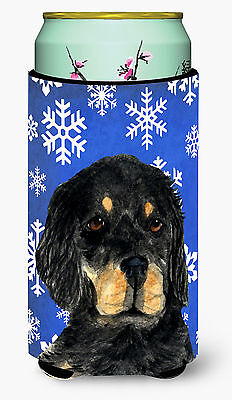 Gordon Setter Winter Snowflakes Holiday  Tall Boy Beverage Insulator Beverage In