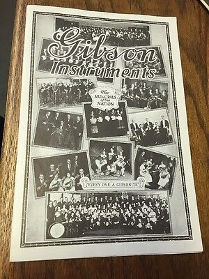 Gibson Instruments Catalog c. 1912 Vintage Reprint