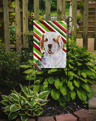 Clumber Spaniel Candy Cane Holiday Christmas Flag Garden Size