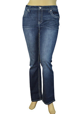 Junior's Regular to Plus Size Stretch Denim Washed Boot-Cut