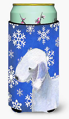 Bedlington Terrier Winter Snowflakes Holiday  Tall Boy Beverage Insulator Bevera