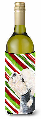Dandie Dinmont Terrier Candy Cane Holiday Christmas Wine Bottle Beverage Insulat