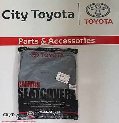 New Toyota Genuine Front Canvas SeatCover Set Hilux JULY 2005-06/15 PZQ2289070