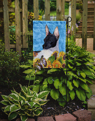 Carolines Treasures  SS4113GF Rat Terrier Flag Garden Size