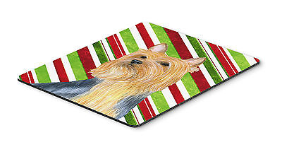Silky Terrier Candy Cane Holiday Christmas Mouse Pad, Hot Pad or Trivet