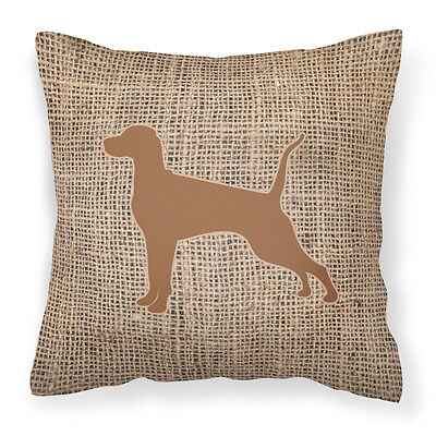 Pointer Burlap and Brown   Canvas Fabric Decorative Pillow BB1105