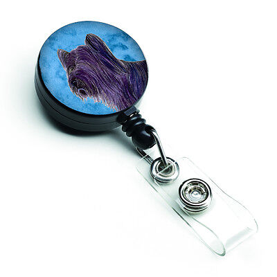 Skye Terrier  Retractable Badge Reel or ID Holder with Clip SS4739