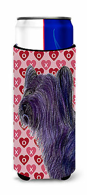 Skye Terrier Hearts Love and Valentine's Day Portrait Ultra Beverage Insulators