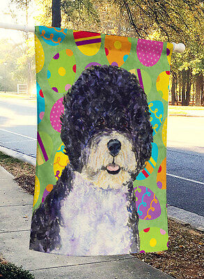 Portuguese Water Dog Easter Eggtravaganza Flag Canvas House Size